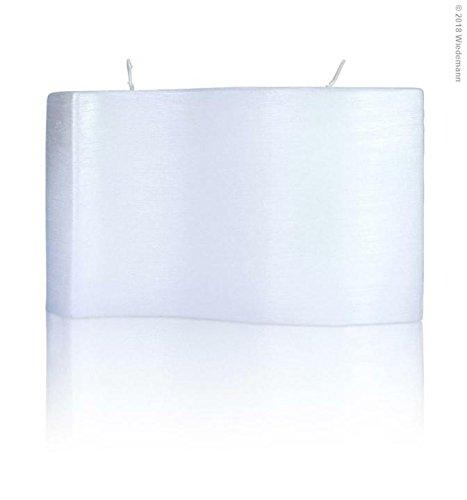 Vormkaars golf parelmoer, 150 x 250 mm, wit, kaars voor het vormgeven van een aanzetkaars