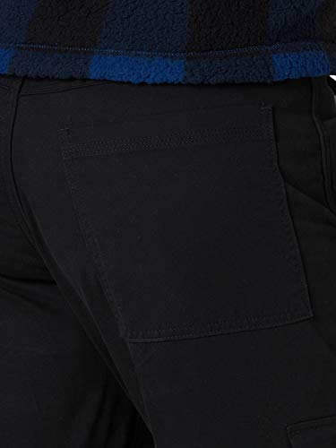 Wrangler Authentics Men's Fleece Lined Cargo Pant, Black, 30W x 32L