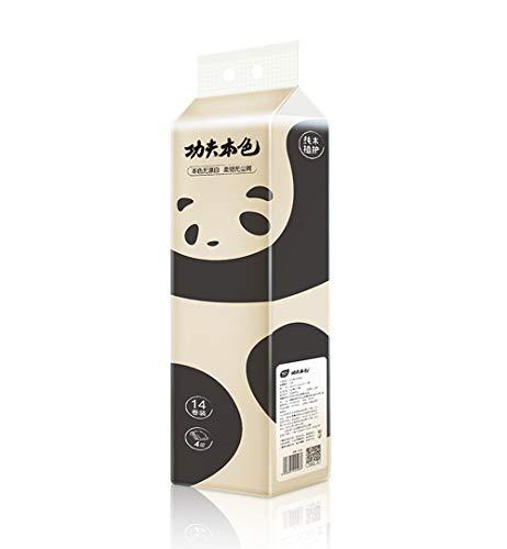 Huishoudelijke Milieubescherming 4-laags Toiletpapier Kernloze Bamboe Pulp Rol Papieren Handdoek Toilet Zacht En Dik Absorberend Toiletpapier (42 Rollen) -ecologische Kleur
