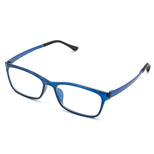 Cyxus Blue Light Blocking Glasses Professional UV Protection Eyewear Anti Eye Fatigue Transparent Lens with ULTEM Lightweight Eyeglass Frames Unisex (8070T05,Blue)