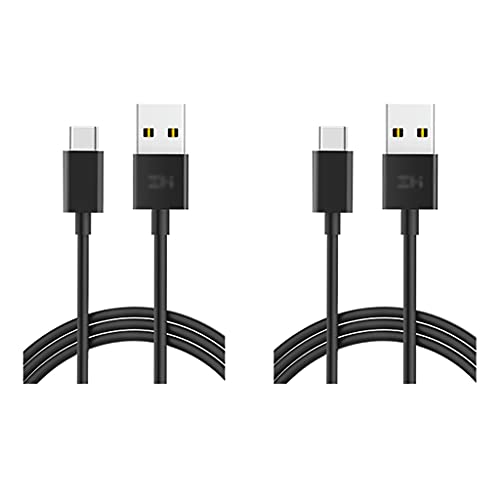 LLRZ Conectores 2 Paquete USB C Cable USB Tipo-C a USB-A Cable de Cargador 3A Carga rápida Compatible con S21 / S21 +, S20 / S20 +, S10, Note 20 10 Accesorios (Color : Black+White, tamaño : 1m)