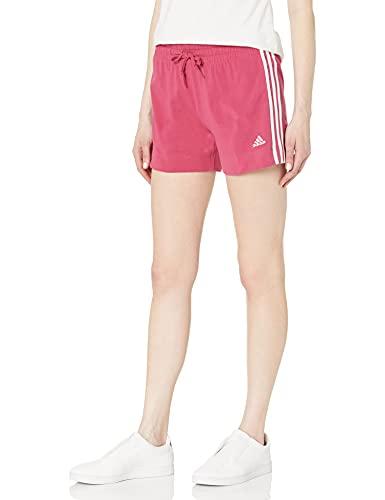 adidas Womens Essentials Slim Shorts Wild Pink/White X-Large