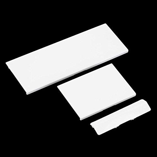 Ballylelly-Ersatz Slot Abdeckungen Deckel Teile für Nintendo Console Speicherkarte Tür (Farbe: weiß)