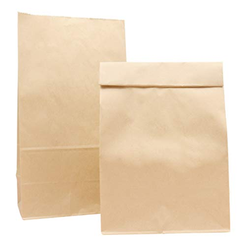 Paper Lunch Bags, Kslong 50pcs Brown Paper Bags 12 Lb 7x4.3x12.5' Durable Kraft Bags Grocery Bag Bakery Bread Sandwich Bag Shopping Party Favor Gift Wrapping Bags Bulk(Brown 12)