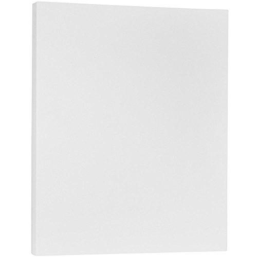 JAM PAPER Cartoncino Pergamena Traslucido - 215,9 x 279,4 mm Coverstok - 135gsm - Trasparent - 50 Fogli/Confezione