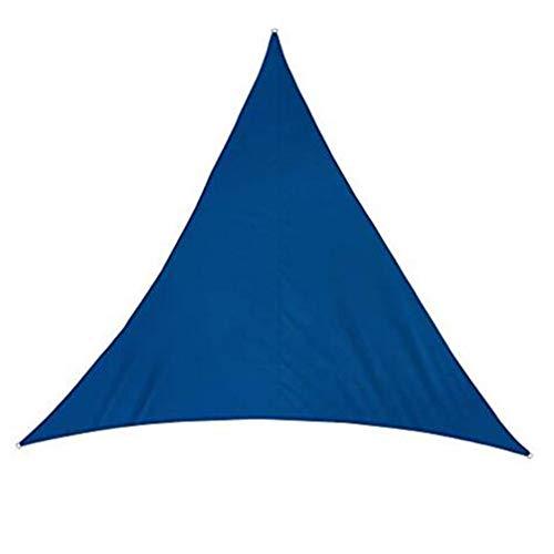 SSRS En Forma de D Pantalla de Tela Triangular Toldo de Vela Anti-UV Patio del Anillo del Metal de poliéster, 5 tamaños, 8 Colores portátil, Duradero (Color : Blue#A, Size : 4X4X4M)