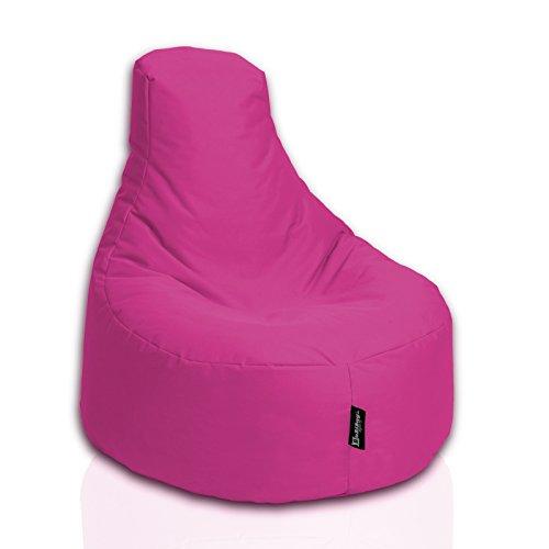 BuBiBag Sitzsack Gamer Junior Sessel Sofa Sitzkissen Sitzmöbel Beanbag Sitz-Kissen für Kinder (55 cm Durchmesser,Pink)