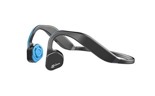 Vidonn F1 Titanium Wireless Bone Conduction Headphones - Cuffie audio Bluetooth a conduzione ossea con microfono per attività sportiva, Blu