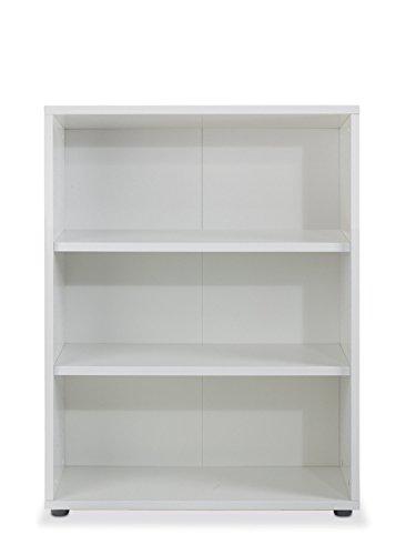 Regal Standregal Bücherregal | 3 Fächer | Weiß | BxHxT: 89x113x40 cm
