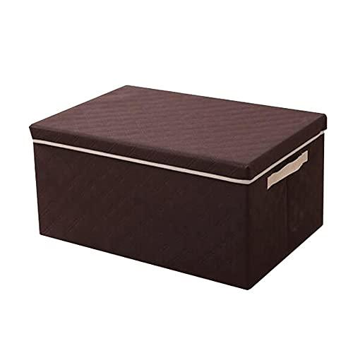FEIHAIYANY Zwl - Cajas de almacenamiento, organizador de ropa, ideal para ropa, mantas, armarios, dormitorios y más (beige, marrón, gris), tamaño: 35 x 28 x 18 cm, 40 x 30 x 25 cm, 50 x 40 x 30 cm