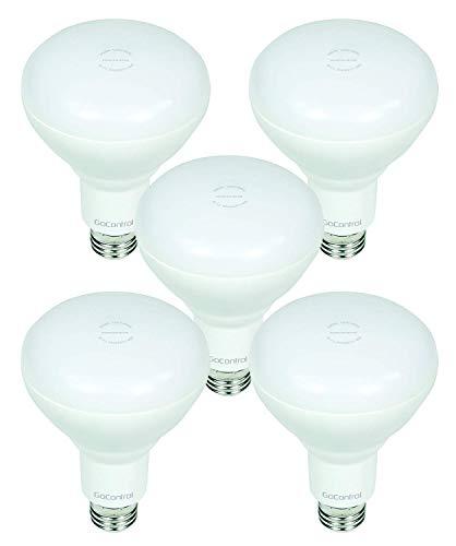 Z-Wave Smart LED Flood Light Bulb for Indoors Usage - Dimmable Light Bulb LBR30Z-5 by GoControl Bulbz - 650 Lumens - BR30 Style Smart Lighting - 5 Pack
