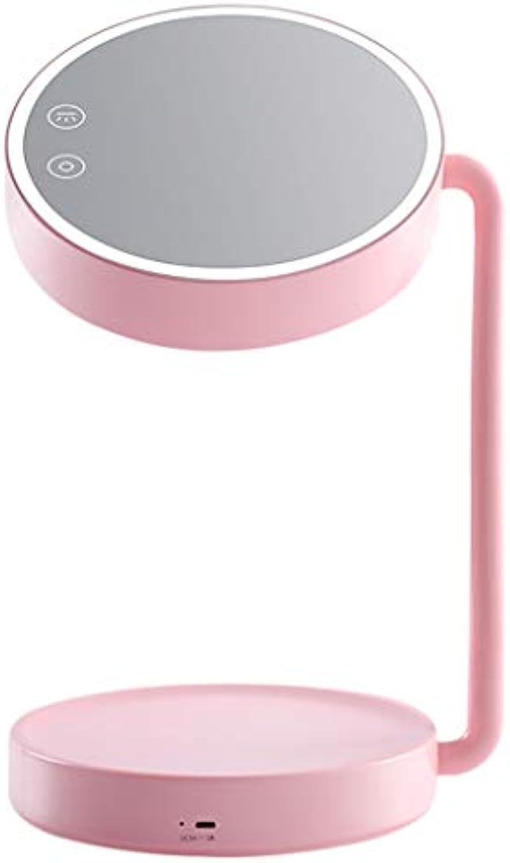 Flashing Runde Desktop Led Make-Up Spiegel Weiches Licht Tischlampe FüLlen Licht Touchscreen Schalter Multifunktions-Dimmen Licht USB-Aufladung