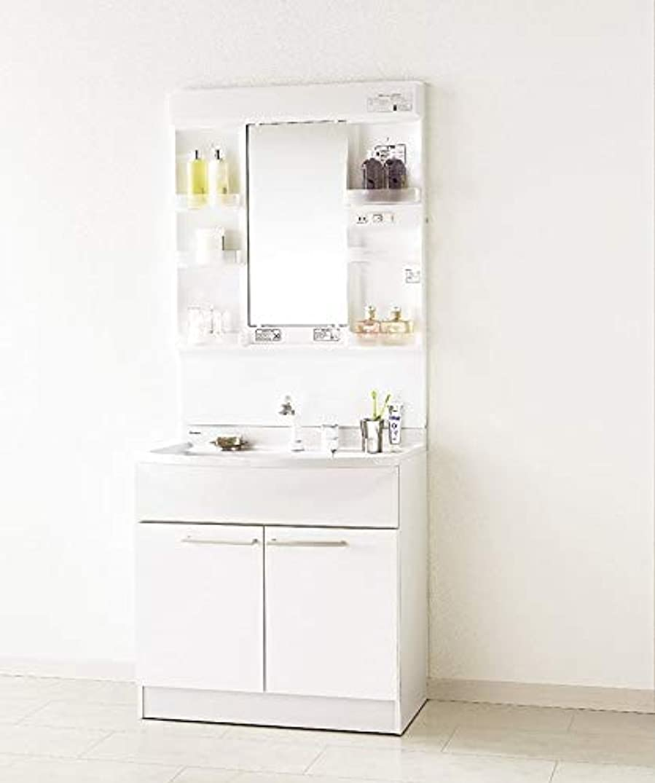 キネマティクス微妙発送パナソニック 洗面化粧台 エムライン GQM75KSCW GQM075DNUAT 幅750 奥行530 高さ1800 本体+ミラー 洗面台