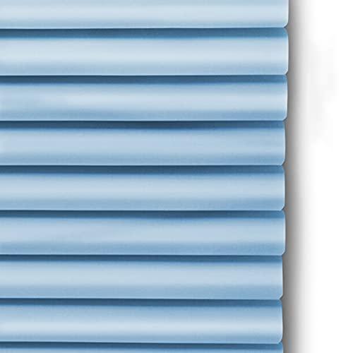 LXLA Estor Enrollable persianas venecianas Azul Persiana Veneciana De Ventana con Accesorios,Oficina Sala De Reuniones Cocina Aluminio Cortina-Filtrado De Luz/Apagón Ajustable,Lamas De 25 MM