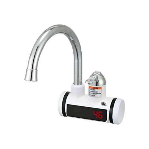 SmallPocket Heizungshahn, Instant Tankless elektrischer Warmwasserbereiter Wasserhahn Langlebig einstellbar Heizung Leitungswasserhahn mit LCD-Digitalanzeige für Küche Badezimmer