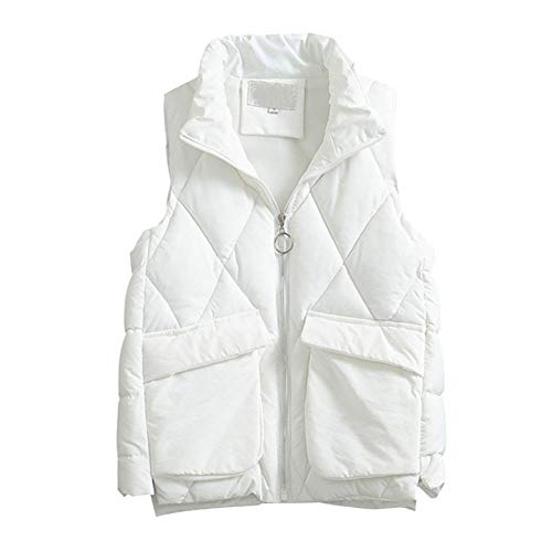 SHANGYI vrouwen mouwloze herfst winterjas zak jas ritssluiting vest vrouwen slank vest warm vest basisjas