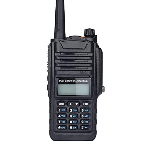 Walkie-Talkie Impermeabile 8W UHF/VHF-Talkie Tenuto in Mano 5KM Radio CB Comunicazione A Due Bande Radio Bidirezionale Ham