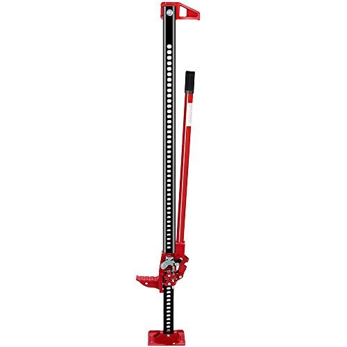 Anbull 60' Farmer Jack Stand, 3.5 Ton Heavy Duty Farm Jack With Rubberized Grip, Racheting Adjustable Off Road Truck SUV Bumper