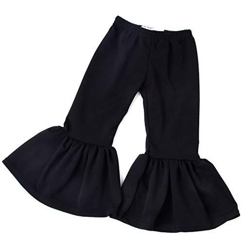 QLIyang Girls Ruffle Pants Seersucker Bell Bottoms Wide Leg Pants 2T