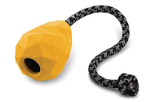 Ruffwear Kaufestes Hundespielzeug zum Werfen, Futter und Leckerli Aufbewahrung, One Size, Gelb (Dandelion Yellow), Huck-a-Cone, 6081-755
