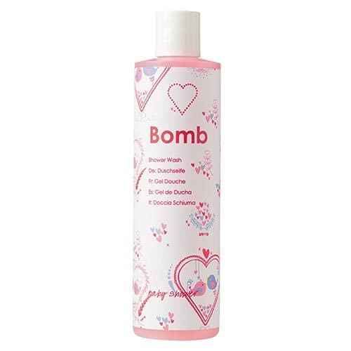 Bomb Cosmetics Duschgel für Babyparty, duftend (Cruelty Free/Vegan Friendly), Babypuder, 300 ml