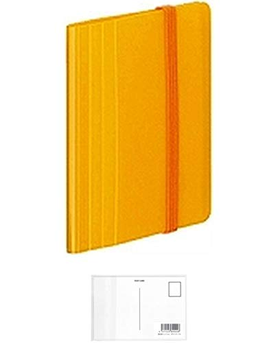 コクヨ ファイル カードホルダー ノビータ ミニ 30枚 120名収容 黄 メイ-N1212Y + 画材屋ドットコム ポストカードA