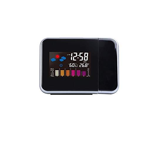 YUTRD ZCJUX LED Wecker Temperatur Thermometer Schreibtisch Uhrzeit Datum Anzeige Projektorkalender USB-Ladetisch LED-Uhr