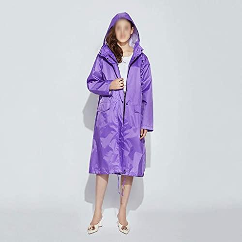 Lange Regenjas Dames Heren Waterdicht Winddicht Capuchon Licht Wandelen Regenjas Poncho Jas Mantel Dames Regenjas (Maat: Groot)