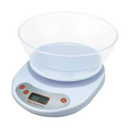 Báscula digital de cocina eléctrica digital con pantalla LCD, máximo 5 kg