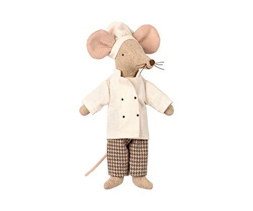 Maileg Puppe Kuscheltier Maus Mäusschen Koch