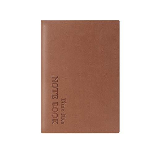 cuaderno punteado diario Vintage de papel grueso cuaderno de la libreta de piel planificador diario en la revista Agenda Escuela Oficina de Registro de reuniones cuaderno de cuero a5 cuadernos baratos