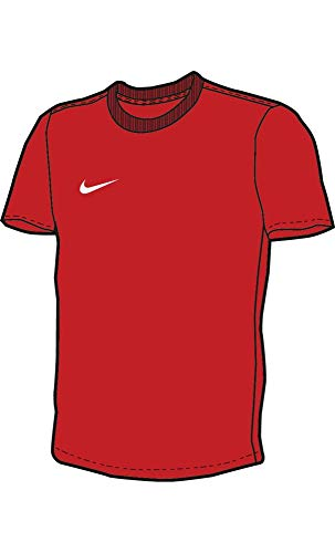 Nike Team Club 19 Tee T-Shirt, Unisex Bambini, University Red/University Red/University Red/White, M