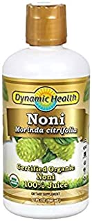 Dynamic Health Certified Organic Noni (Morinda citrifolia) 100% Juice | For Increased Energy & Body Health | No Additives,...