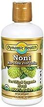 Dynamic Health 946ml 100 Percent Pure Organic Tahitian Noni Juice - Pack of 2