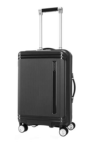 SAMSONITE Hartlan Polypropylene 55.5 cms Black Hardsided Cabin Luggage (SAM HARTLAN Spinner 55 Black)