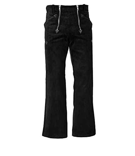 JOB Zunfthose/Zunft-Hose aus Trenkercord/Trenker-Cord mit Schlag, schwarz (28)