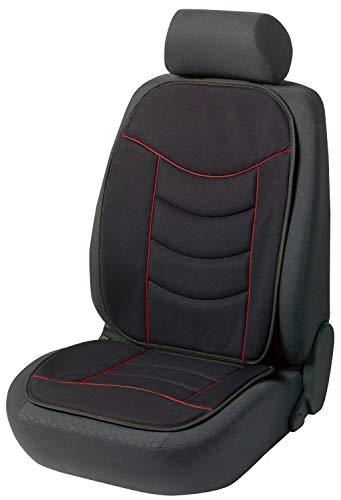 Walser 14275 Sitzaufleger Elegance Plus | Autositzaufleger in Schwarz/Rot | Autoschonbezug | PKW Schonbezug