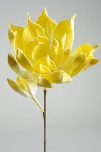 Mousse de fleurs sur tige, jaune, Ø : 46 cm