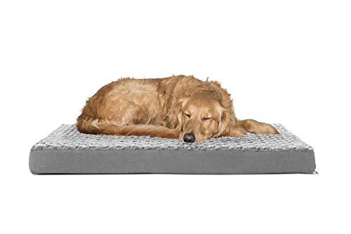 Metron-Pet Bed Mattress for Small to Large Dogs  Color Dark Grey   Size Large 4 feet x3 feet   Washable Outer Cover  Anti Skid Bottom Fabric