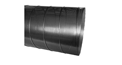 Wickelfalzrohr Perforiert Verzinkt 1 m Lang 5 mm Lochblech Ø 80 x Ø 315 mm