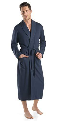 Hanro Mantel Robe de Chambre, Noir (Black Iris 0496), Large (Taille Fabricant: L) Homme