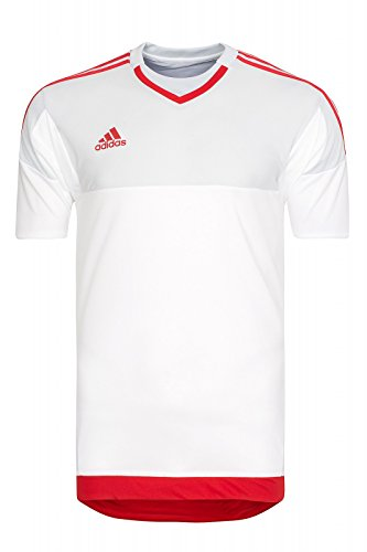 Camiseta de portero de manga corta Adidas S17928, white/clgrey/scarle, 2