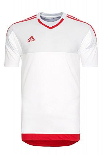 Adidas Gk jsy p white/clgrey/scarle, Größe Adidas:10