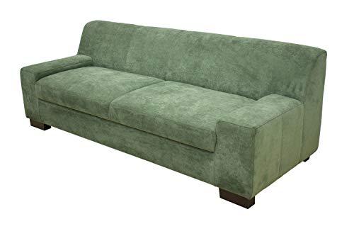 DOMO Collection Norma Sofa / 3er fest / Größe 212 x 85 x 74 cm (BxTxH) / Bezug Polyester grün