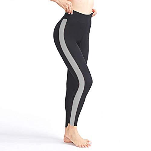 ROOTOK Pantalones de Sauna Adelgazantes Mujer Nanotecnología - Leggins Reductores Adelgazantes, Leggins Anticeluliticos Cintura Alta, Mallas Fitness Push Up para Deporte Running Yoga Gym (M)