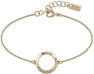 HUGO BOSS WOMEN'S IONIC PLATED CARNATION GOLD STEEL BRACELETS -1580026