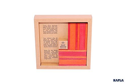KAPLA 40 Steine, rot und orange + Buch - 3