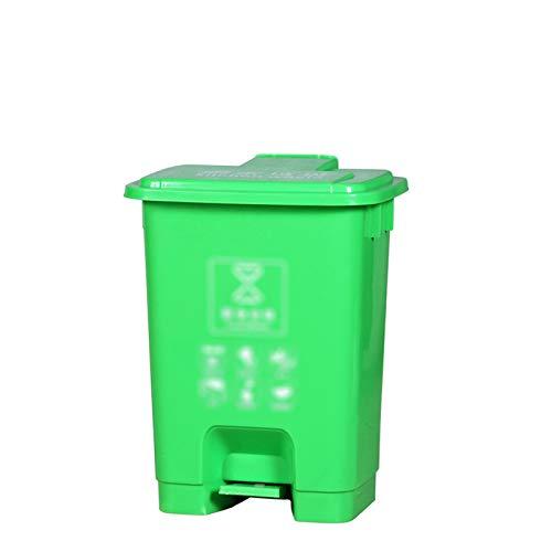 Outdoor trash can CSQ- Papelera De Plástico De 20L, Papelera con Pedal De Cocina para El Hogar, Papelera De Alta Capacidad, Papelera De Reciclaje De Calle Al Aire Libre (Size:20L,Color:re)