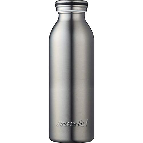 水筒 真空断熱 スクリュー式 マグ ボトル 0.45L シルバー mosh! (モッシュ! ) DMMB450SV