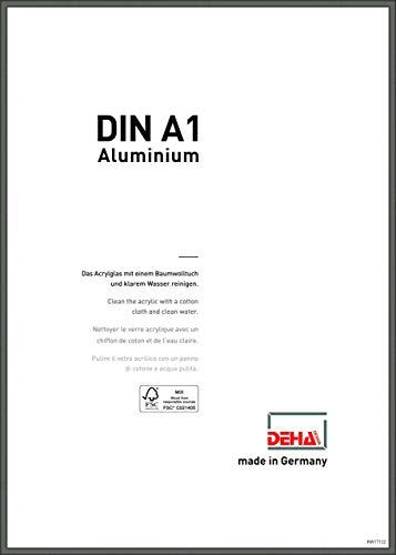 DEHA Aluminium Bilderrahmen Boston, 59,4x84,1 cm (A1), Contrastgrau